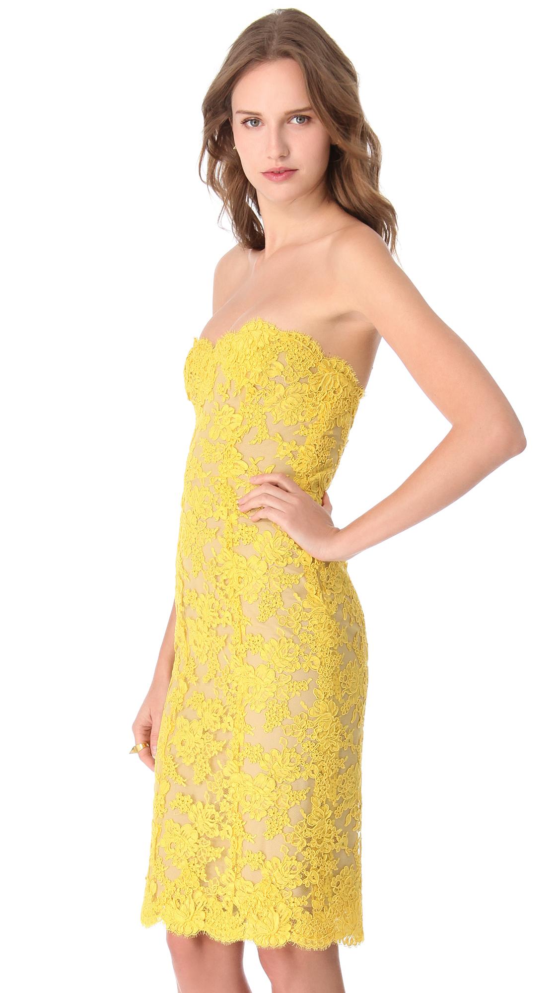 Reem Acra Strapless Cocktail Dress   SHOPBOP