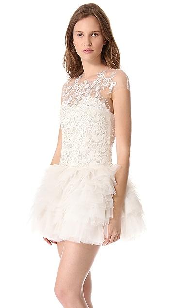 Reem Acra Long Song Dress