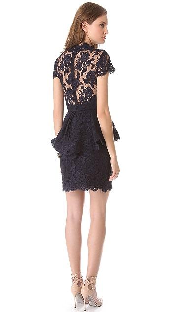 Reem Acra Jewel Neck Lace Dress