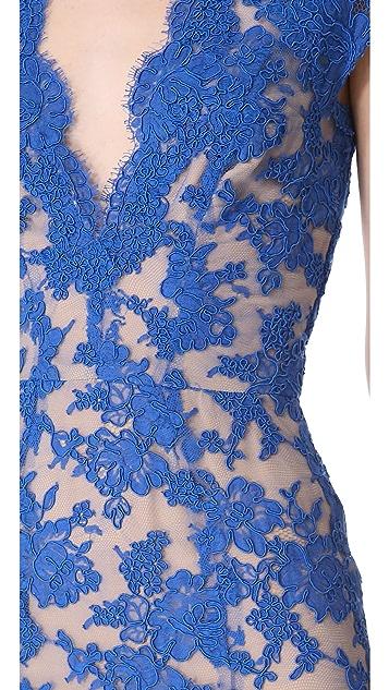 Reem Acra Lace Cocktail Dress