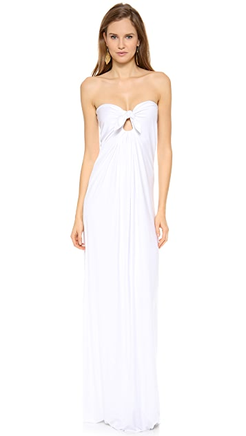 Reem Acra Silk Empire Waist Draped Gown
