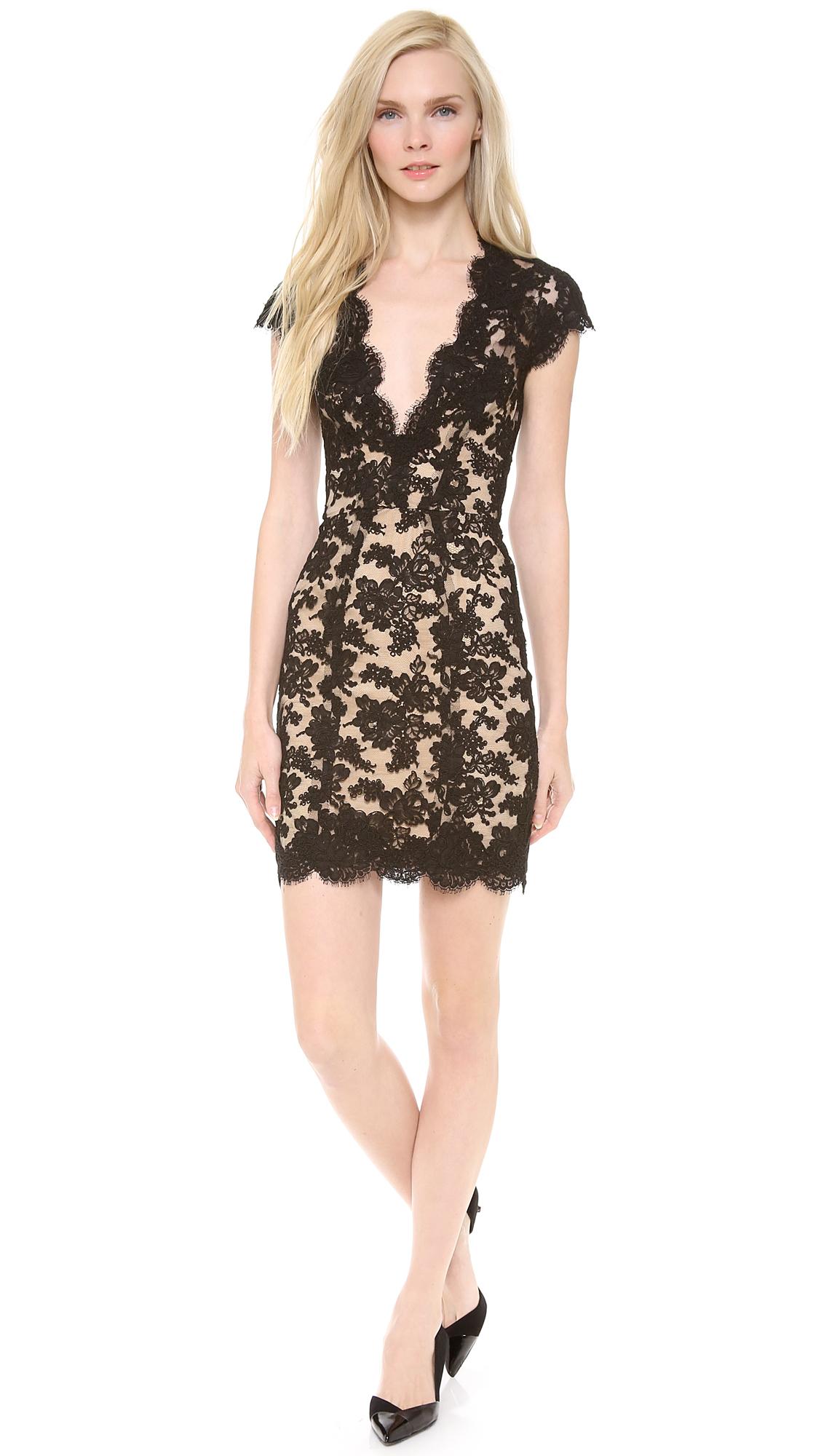 Reem Acra Lace Cocktail Dress   SHOPBOP