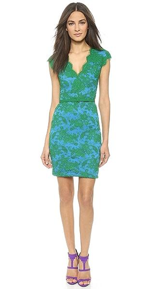 Reem Acra V Neck Lace Dress