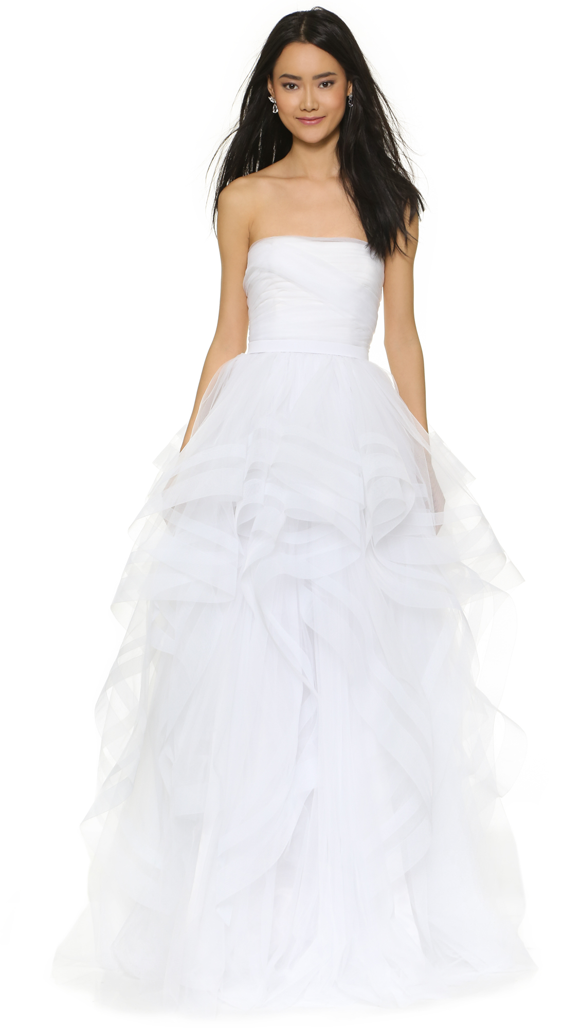 Reem Acra I\'m Romantic Strapless Gown   SHOPBOP SAVE UP TO 25% Use ...