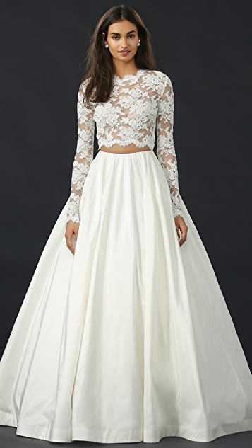 Reem Acra I'm Special Lace Top