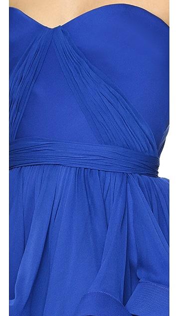 Reem Acra Strapless Dress