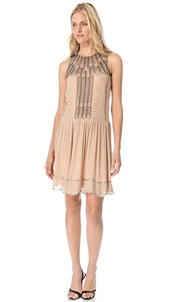 Renzo + Kai Embellished Drop Waist Dress