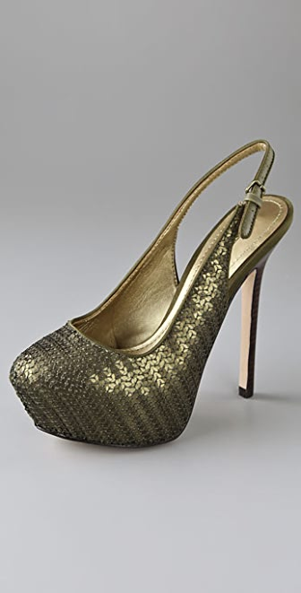Report Signature Neptune Sequined Platform Pumps