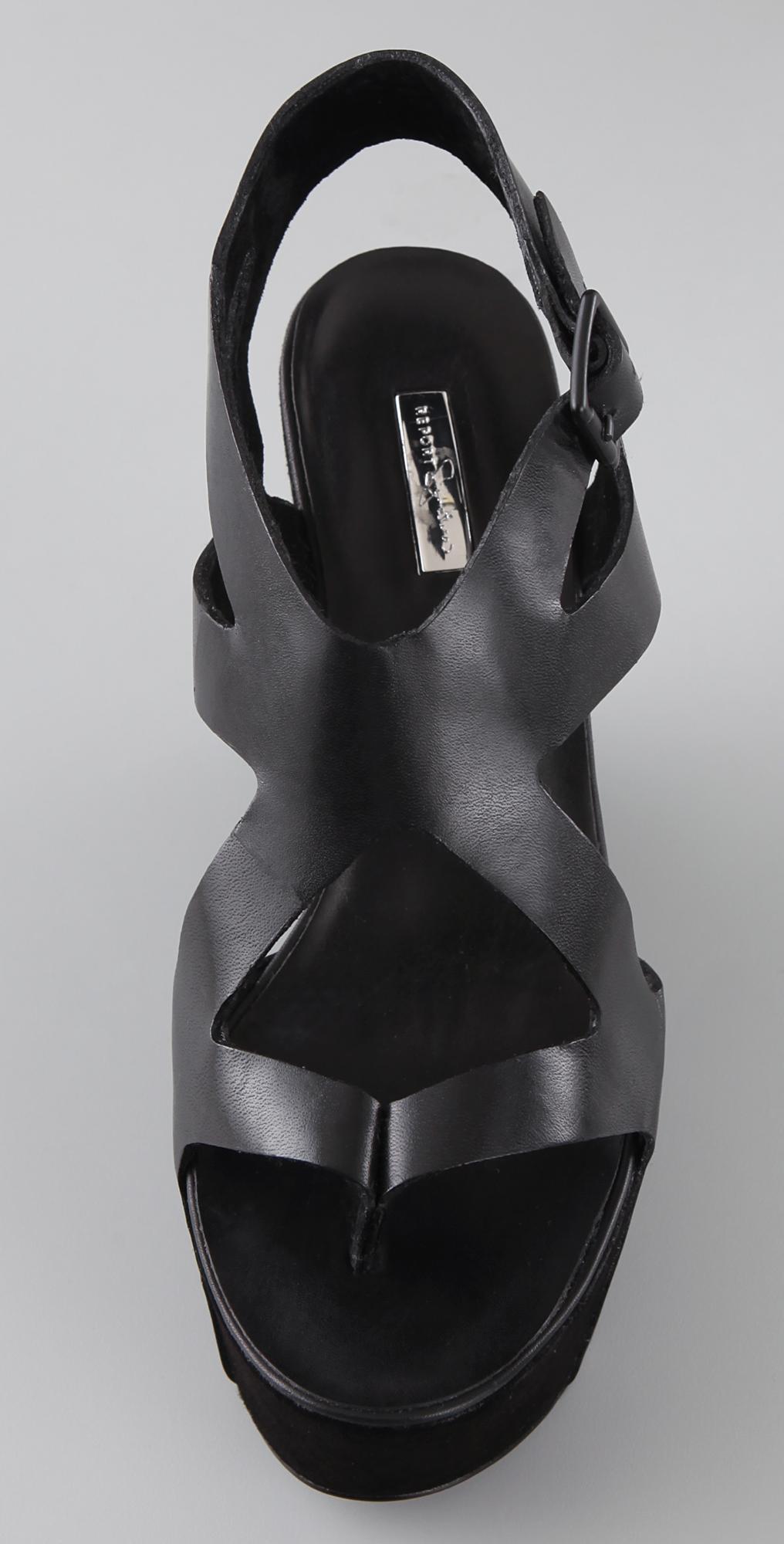 6499f16fb Report Signature Ainslie Thong Wedge Sandals