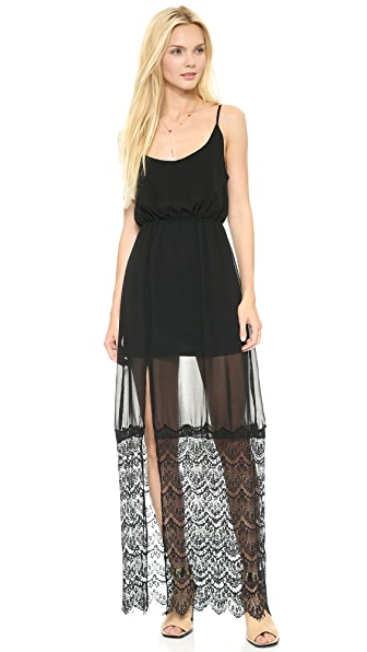 Reverse Lace Slip Dress