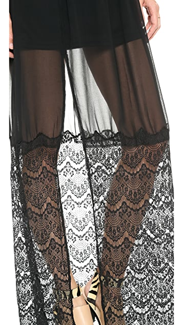 Reverse Lace Slip Dress