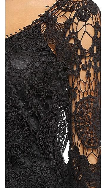 Reverse Body Con Crochet Dress