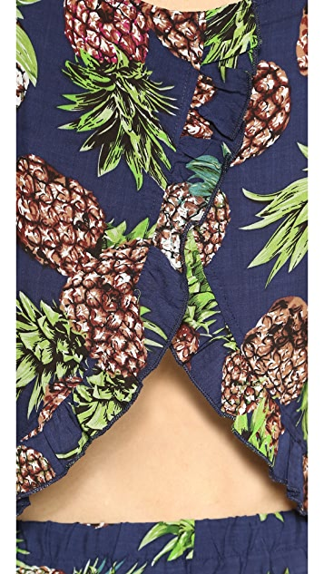 Reverse Pineapple Shorts and Top Set
