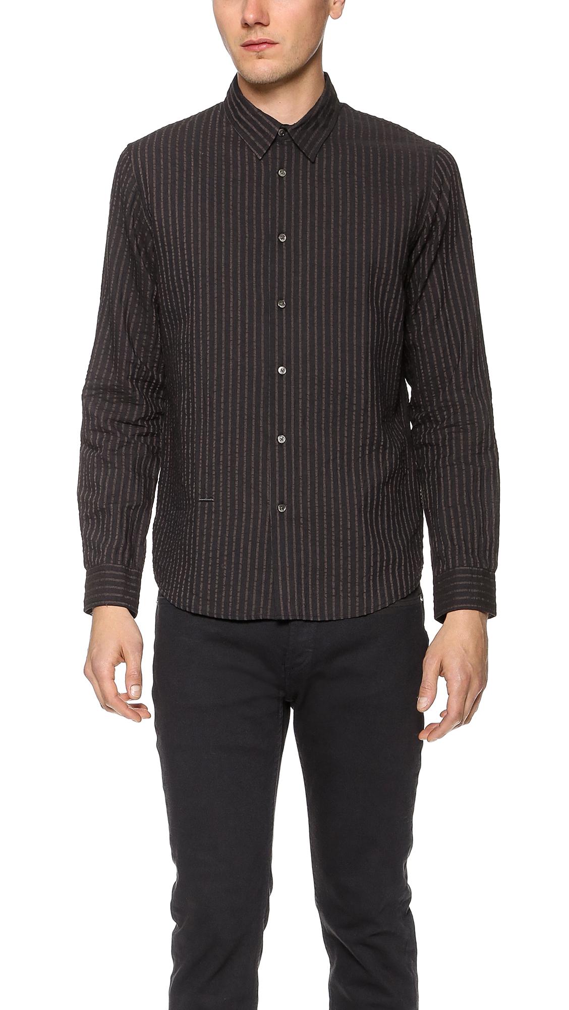 Robert Geller Striped Dress Shirt East Dane
