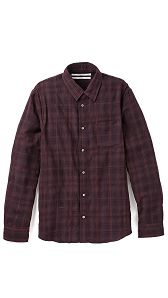Robert Geller Plaid Shirt