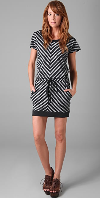 Rag & Bone/JEAN Striped Slash Dress