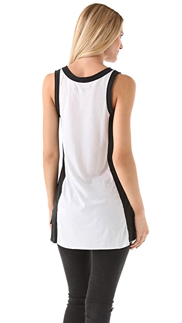 Rag & Bone/JEAN Colorblock Pocket Tank Top