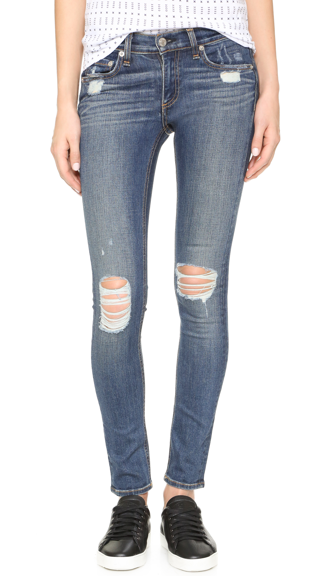 Rag & Bone/JEAN The Ripped Skinny Jeans | SHOPBOP Extra 25% Off ...