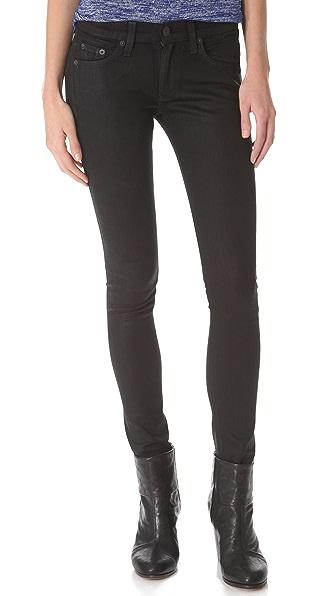 Rag & Bone/JEAN The Coated Skinny Jeans