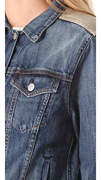 Rag & Bone/JEAN Denim & Knit Jacket