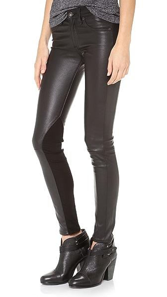 Rag & Bone/JEAN The Reverse Jodhpur Leather Pants