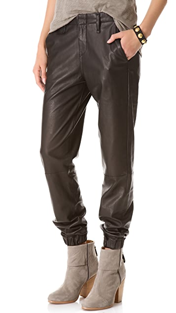 Rag & Bone/JEAN Leather Pajama Pants