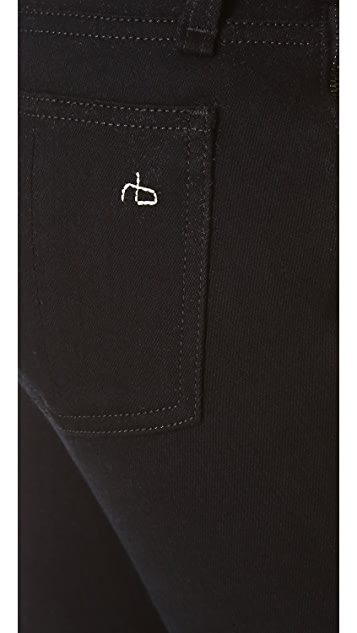 Rag & Bone/JEAN The Zipper Tuxedo Skinny Jeans