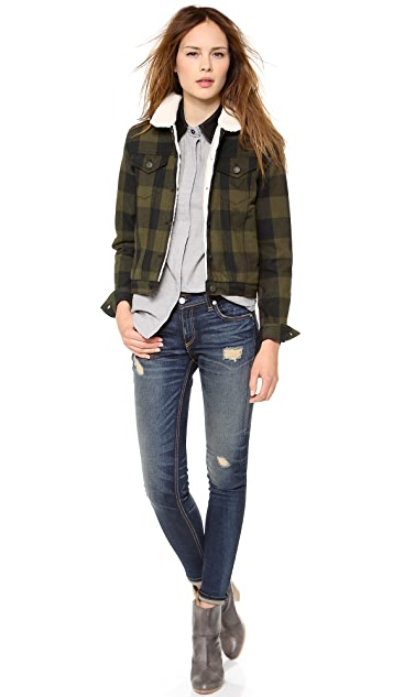 Rag & Bone/JEAN The Fleece Plaid Jacket