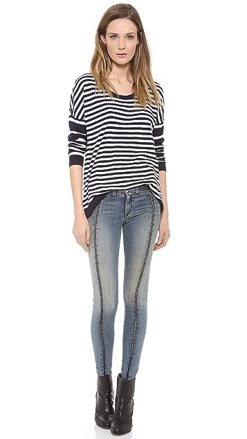 Rag & Bone/JEAN The Split Separating Legging Jeans
