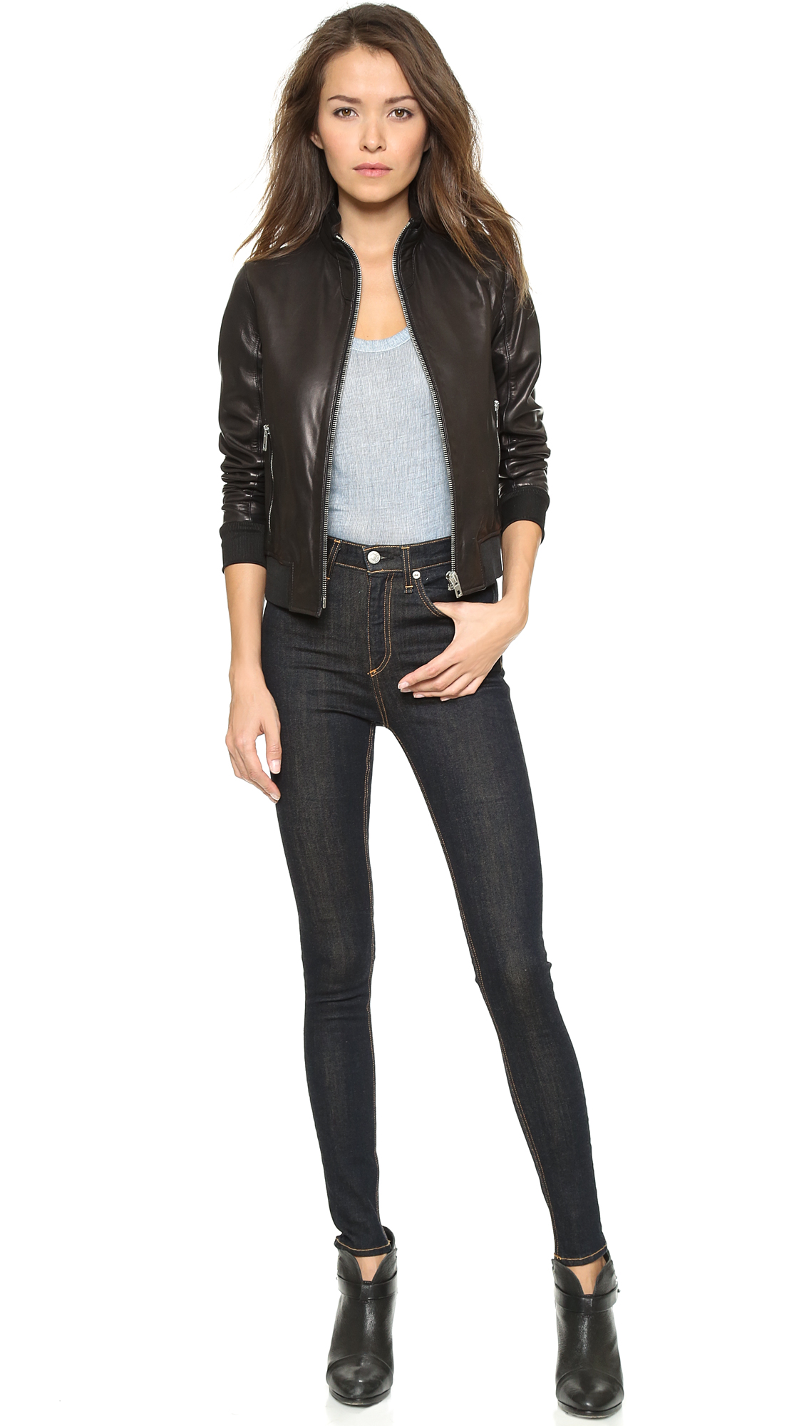 7b99712f007 Rag   Bone JEAN Justine High Rise Legging Jeans