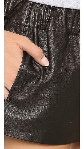 Rag & Bone/JEAN Leather Pajama Shorts