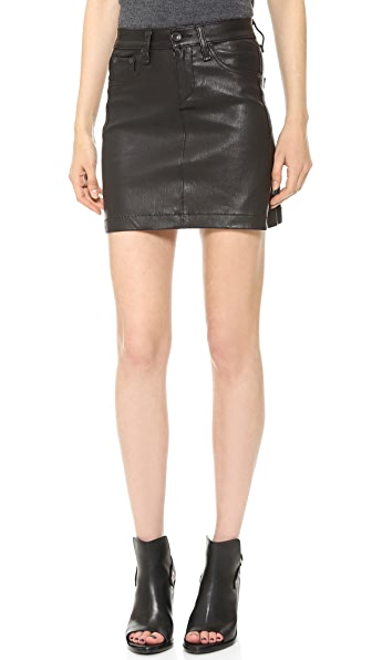 Rag & Bone/JEAN Leather Miniskirt