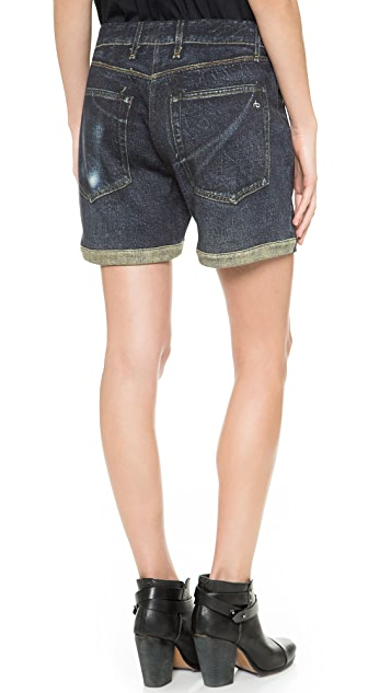 Rag & Bone/JEAN Pajama Boyfriend Shorts