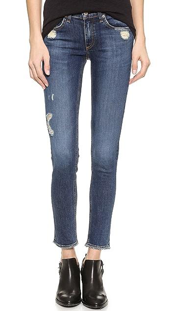 Rag & Bone/JEAN The Frayed Skinny Jeans