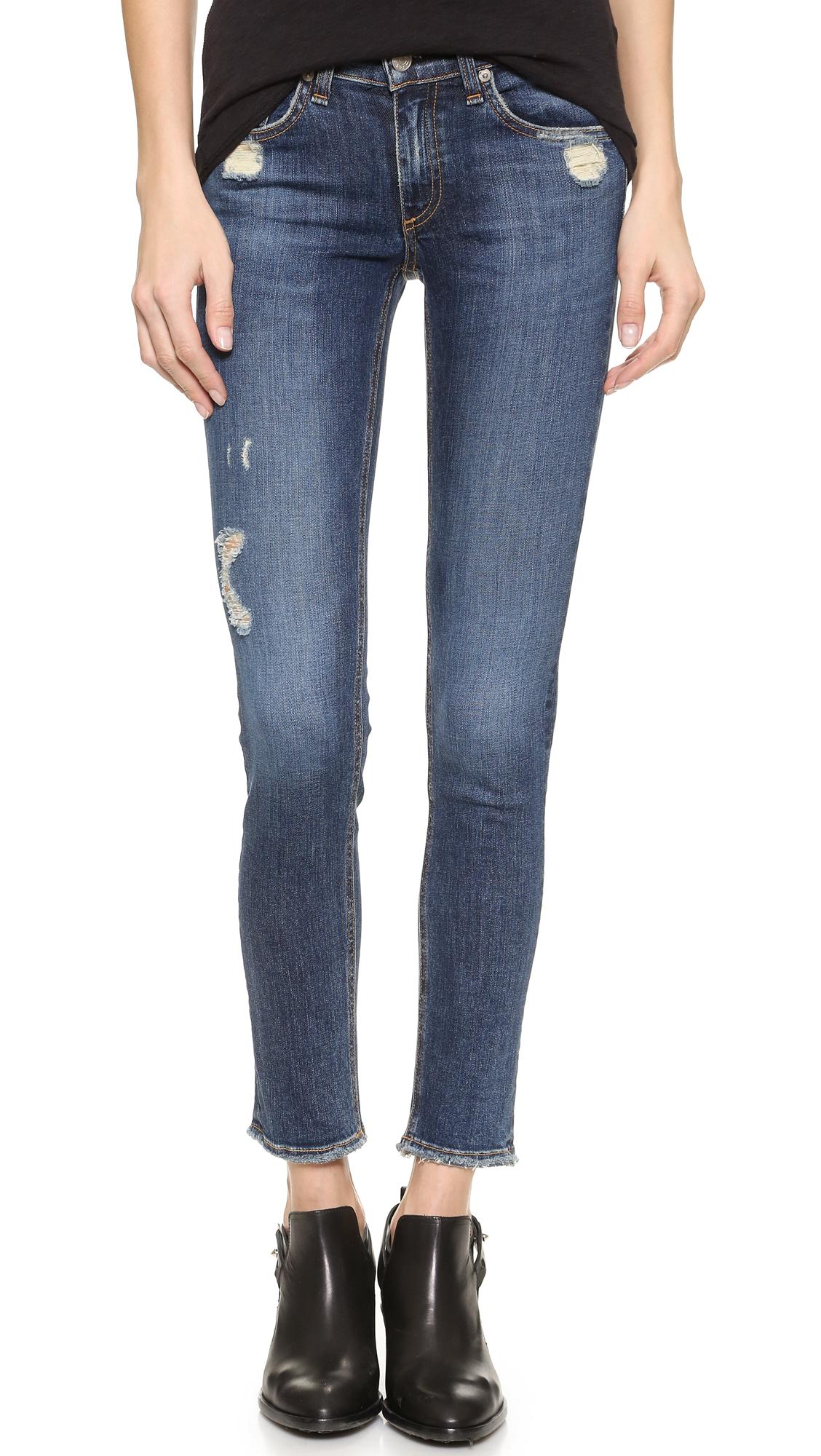 Rag & Bone/JEAN The Frayed Skinny Jeans   15% off first app ...