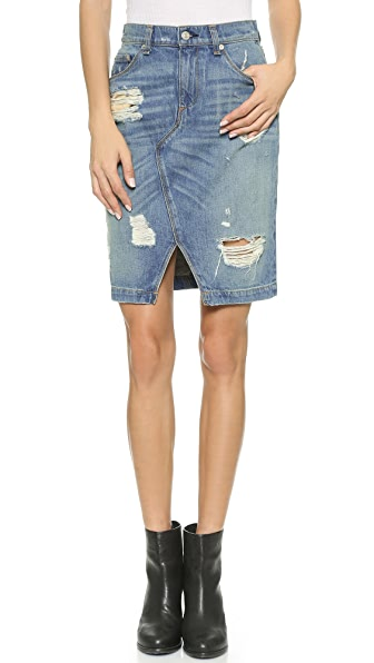 rag bone jean shredded denim skirt shopbop save up to