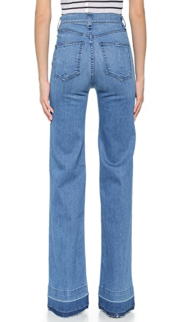Rag & Bone/JEAN The Justine Wide Leg Jeans