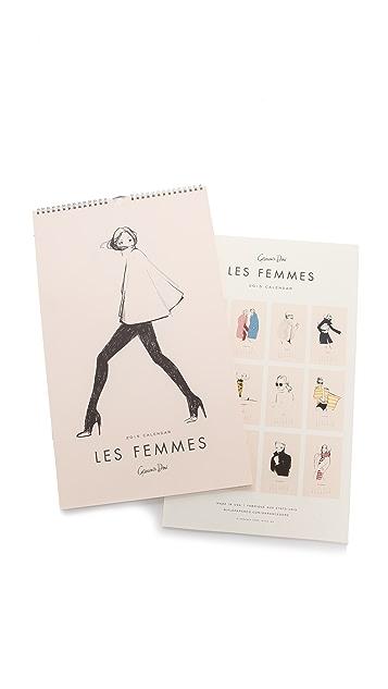 Rifle Paper Co Garance Dore Collection 2015 Les Femmes Calendar
