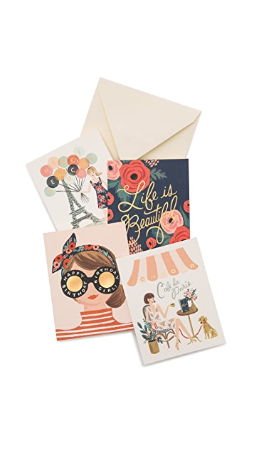 Rifle Paper Co Assorted Paper Crown Card Set