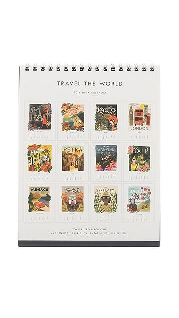 Rifle Paper Co 2016 Travel the World Desk Calendar