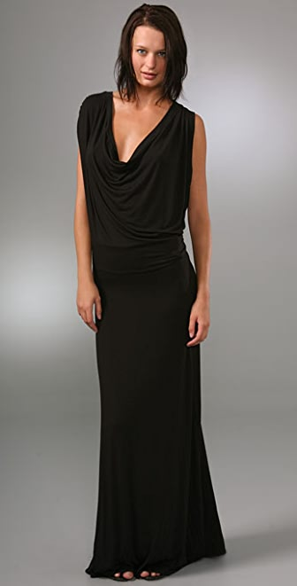 Riller & Fount Miriam Draped Long Dress