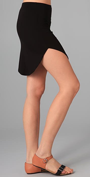 Riller & Fount Shorty Shirttail Miniskirt