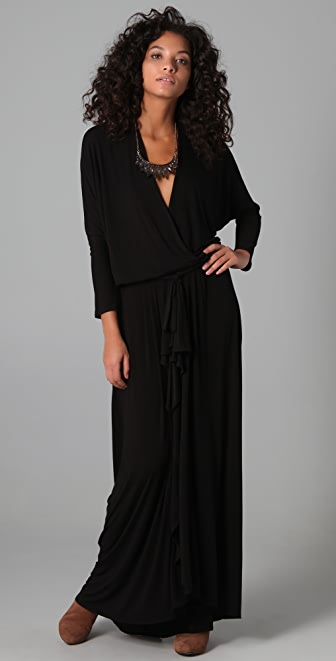 Riller & Fount Josey Draped Maxi Dress