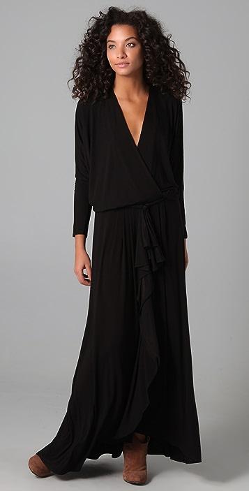 Riller & Fount Josey Draped Maxi Dress