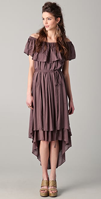 Riller & Fount Sofia Ruffle Midi Dress