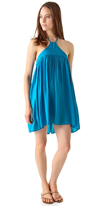 Riller & Fount Callista Braided Halter Mini Dress