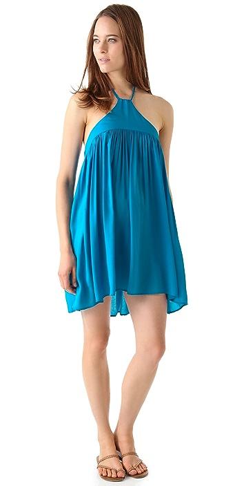 Riller & Fount Callista Braided Halter Mini Dress