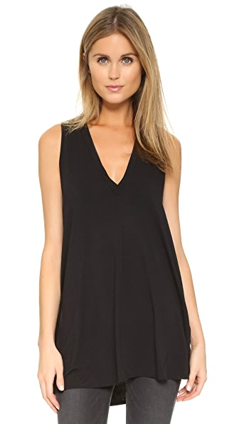 Riller & Fount Juno V Neck Tunic - Black