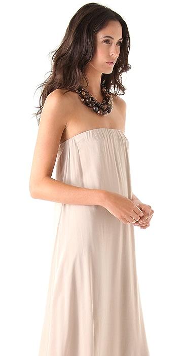 Riller & Fount Esmeralda Strapless Layered Maxi Dress