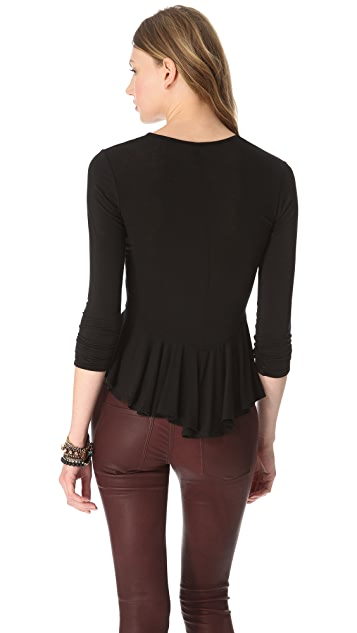 Riller & Fount Veronica Peplum Top